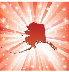 Red Alaska vector image vector image