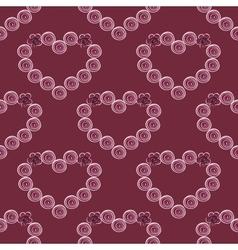 Red heart abstract background vintage seamless vector