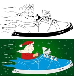 Santa claus is coming vector image