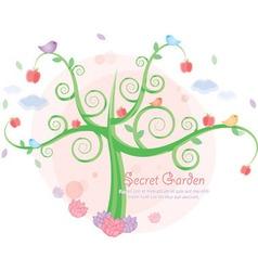 secret garden vector image vector image