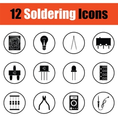 Set of soldering icons vector image vector image