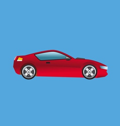 Sports car red vector