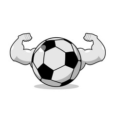 strong football powerful gaming accessory vector image
