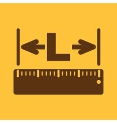 The length icon longitude yardage lgth symbol vector