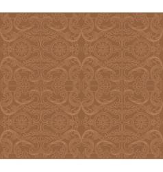 Vintage baroque damask floral ornament vector image vector image