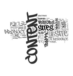 What to put on content sites text word cloud vector