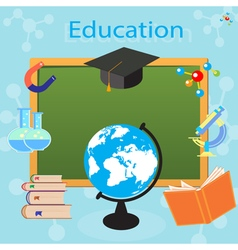 Process of education in a school or university vector