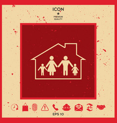 family home icon vector image