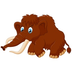 Cute mammoth cartoon vector