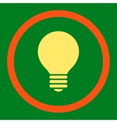 Electric bulb flat orange and yellow colors vector