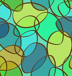 Seamless pattern of abstract ellipses vector