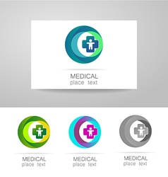Medical logo set vector