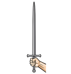 Sword in hand vector
