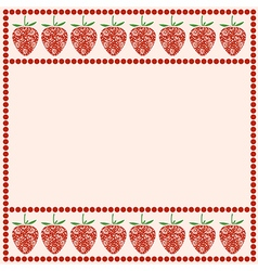Card with berries empty square form vector