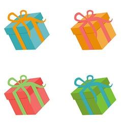 Flat gift box set vector image
