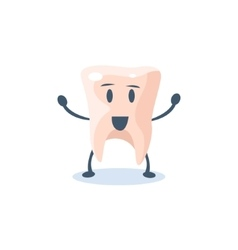 Tooth primitive style cartoon character vector