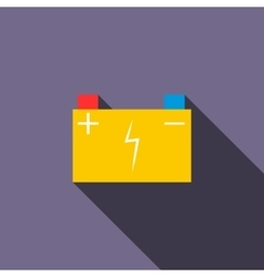 Car battery icon in flat style vector