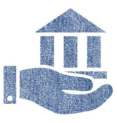 Bank service fabric textured icon vector