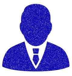 Boss icon grunge watermark vector
