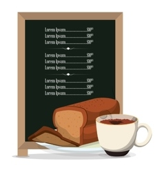 Breakfast board menu restaurant food vector