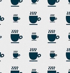 Coffee cup sign seamless pattern with geometric vector