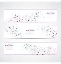 Colorful Collection horizontal banners Molecule vector image vector image