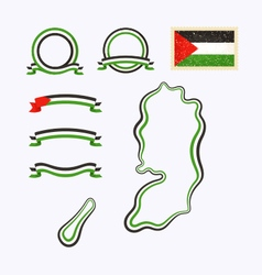 Colors of Palestine vector image