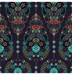 Dark paisley seamless pattern original decorative vector