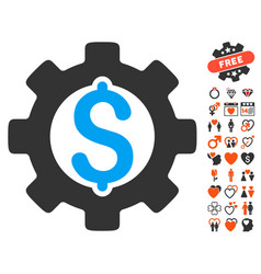 Development cost icon with lovely bonus vector