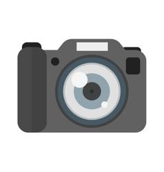 Digital flat photo camera isolated vector image