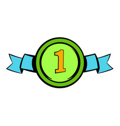 First place icon icon cartoon vector