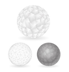 geometric design low polygonal sphere template vector image vector image
