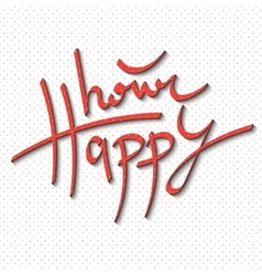 Happy hour lettering vector image