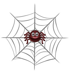 happy spider on the web vector image vector image