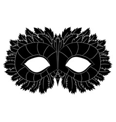 image of a black mask with patterns festive vector image