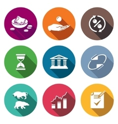 Loan icons set vector