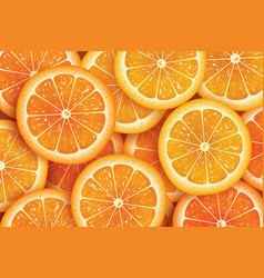 Orange slice background for summer vector