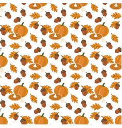 Pumpkin pie pattern vector