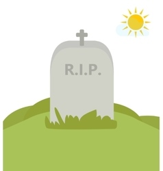 Rip tomb in nature vector
