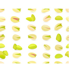 seamless texture with pistachios for your design vector image