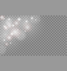 set glow light effect isolated on transparent vector image vector image