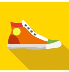 Sneakers icon in flat style vector image