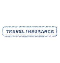 Travel insurance textile stamp vector