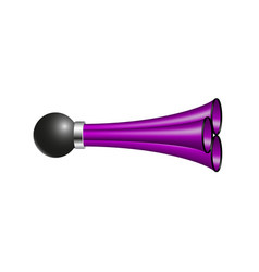 Triple air horn in purple design vector