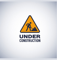 under construction sign isolated icon vector image