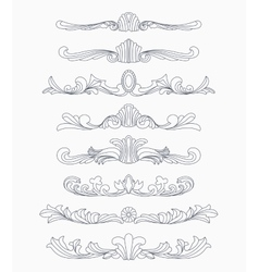 Vintage divider patterns vector