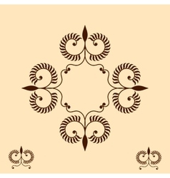 Vintage the frame with decorative elements will be vector image vector image