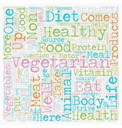 Why Eat Vegetarian text background wordcloud vector image