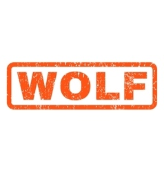 Wolf Rubber Stamp vector image vector image