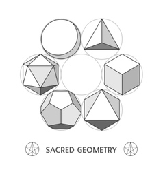 Plato classic geometry forms vector